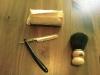 Základní vybavení - břitva ERN (Crown&Sword), mýdlo zn. Ručka, štětka ze zvířecích chlupů